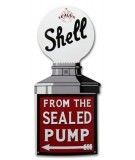 Shell Sealed pump Emaljeskilt 34,5 x 80 cm Emaljehuset